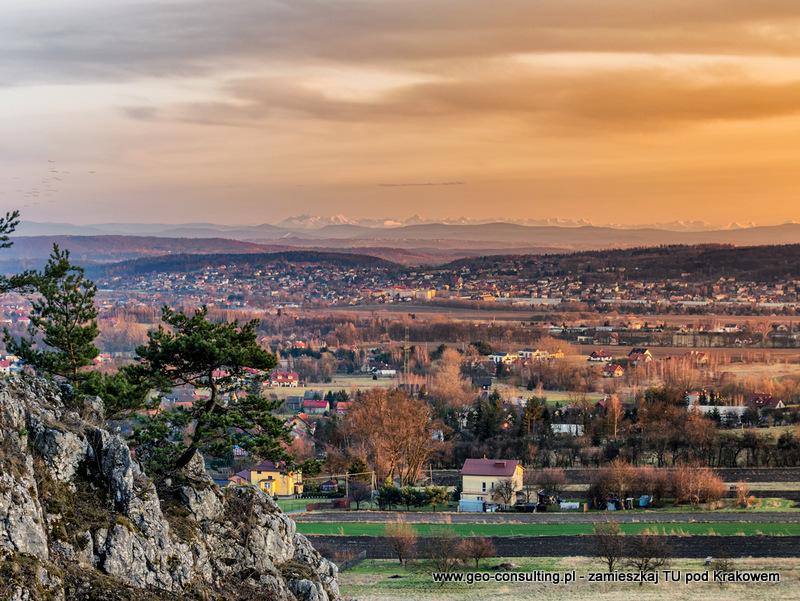 Zabierzów - Widok na Zabierzów i Tatry z Bolechowic
